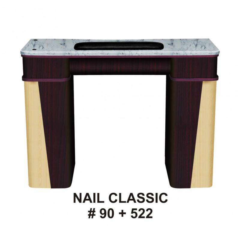 Vnt nail supply classic nail station granite top for Nail salon furniture suppliers